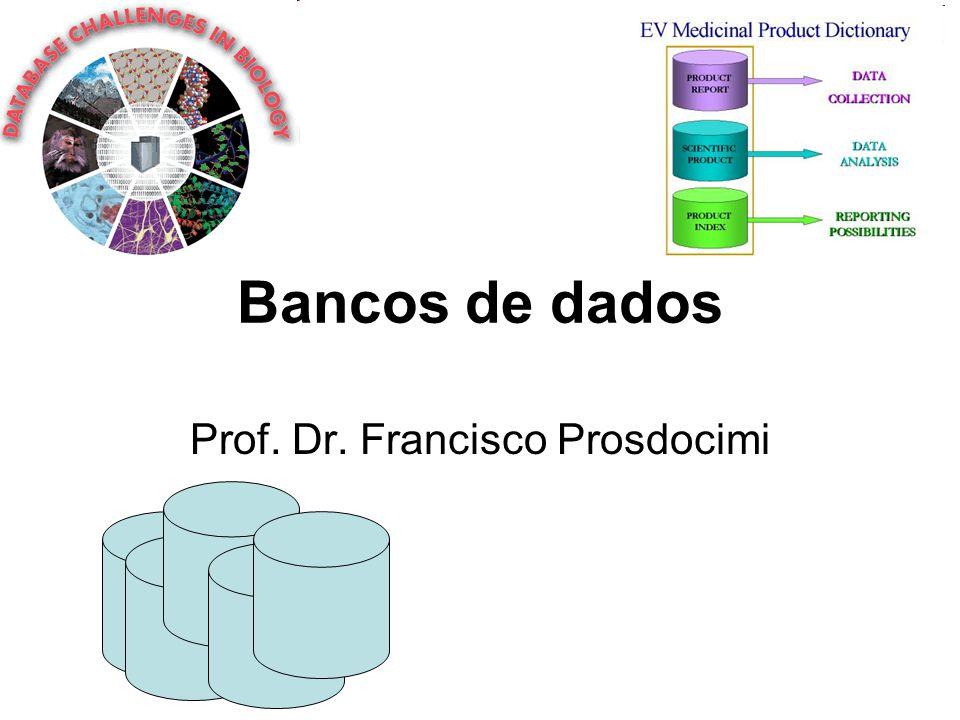 Bancos de dados Prof. Dr. Francisco Prosdocimi