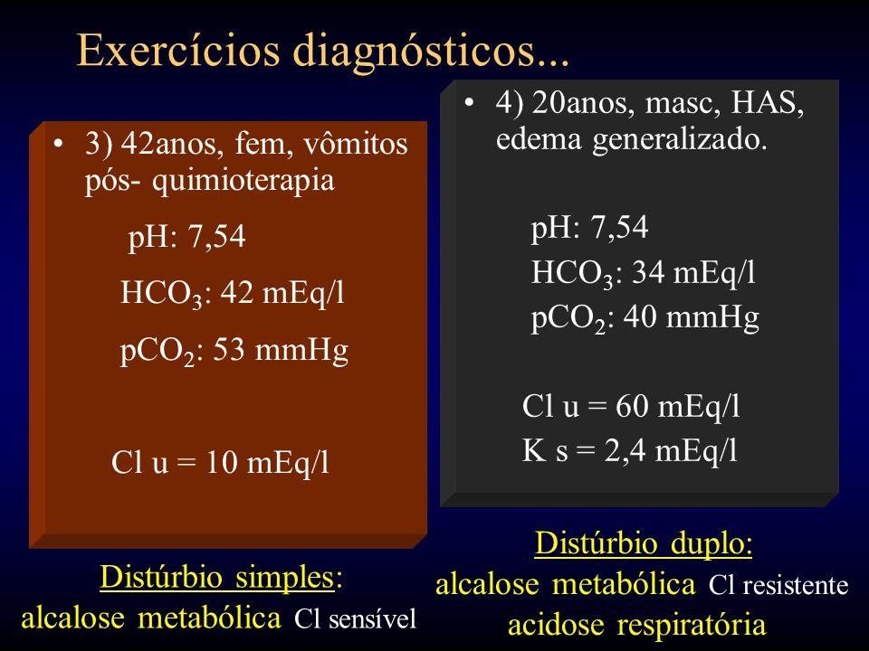 Exercícios diagnósticos...