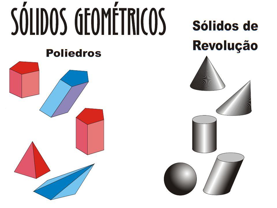 POLIEDRO: É um sólido geométrico cuja superfície é formada por polígonos que são suas faces e possuem dois a dois um lado comum.