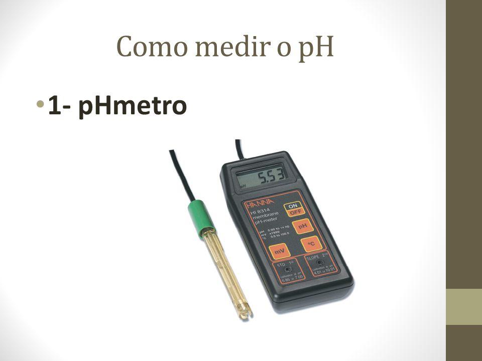 Como medir o pH 1- pHmetro