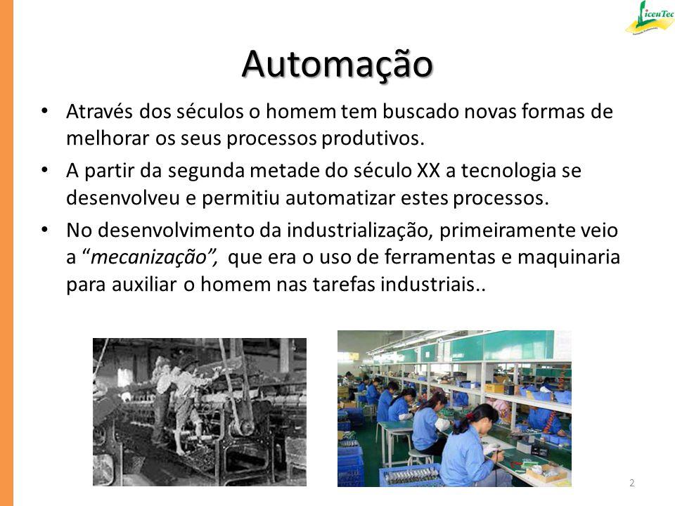 Automação e Robótica A Automação e a Robótica são áreas novas na tecnologia moderna.