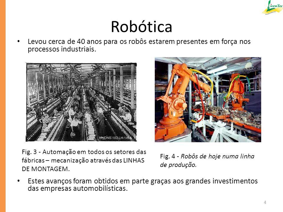 Portanto, os dispositivos que integram sistemas automatizados, assim como os robôs e todas as metodologias robóticas, estão cada vez mais presentes no nosso dia a dia.