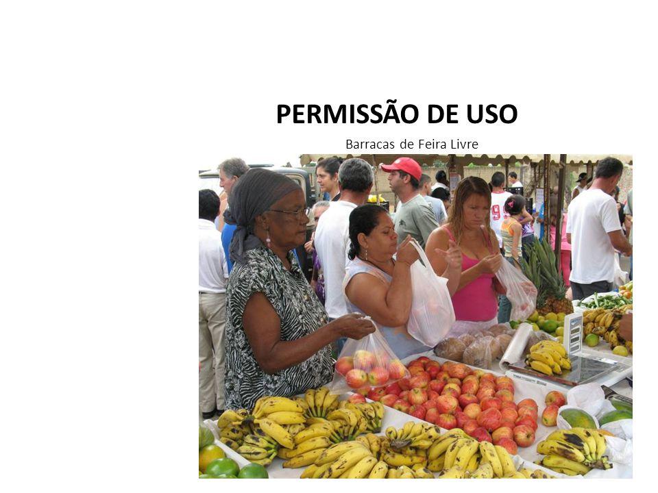 PERMISSÃO DE USO Barracas de Feira Livre