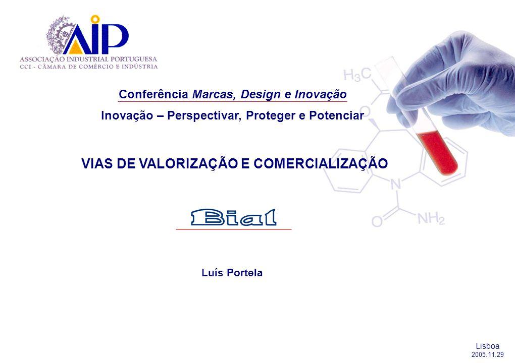 Conferência Marcas, Design e Inovação Inovação – Perspectivar, Proteger e Potenciar VIAS DE VALORIZAÇÃO E COMERCIALIZAÇÃO Luís Portela Lisboa 2005.11.