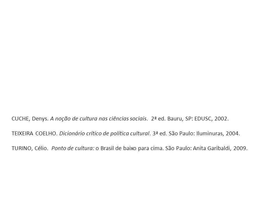 CUCHE, Denys. A noção de cultura nas ciências sociais.