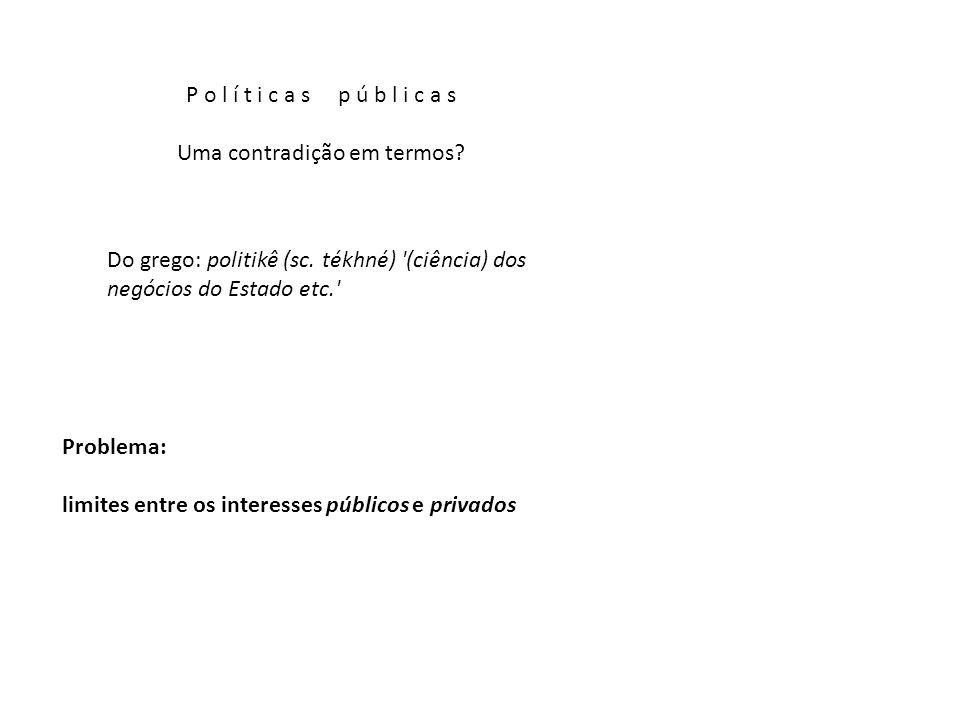 Uma contradição em termos. Do grego: politikê (sc.