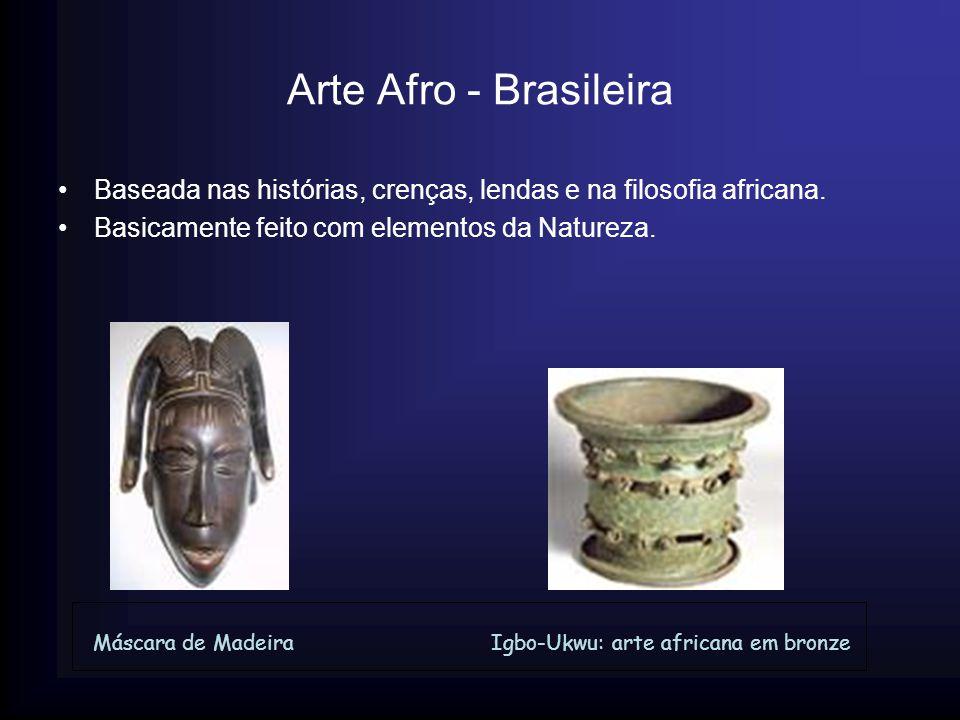 Arte Afro - Brasileira Baseada nas histórias, crenças, lendas e na filosofia africana. Basicamente feito com elementos da Natureza. Máscara de Madeira
