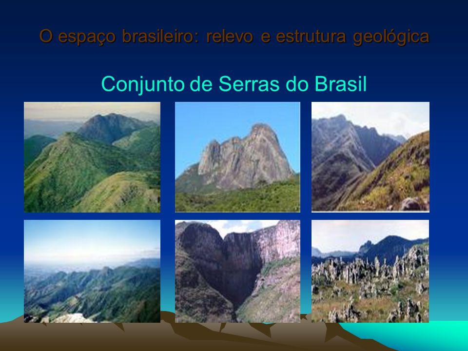 O espaço brasileiro: relevo e estrutura geológica Conjunto de Serras do Brasil