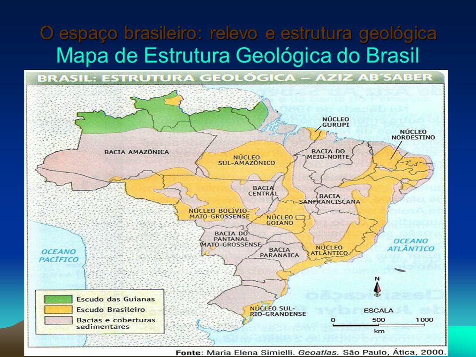 O espaço brasileiro: relevo e estrutura geológica Mapa de Estrutura Geológica do Brasil