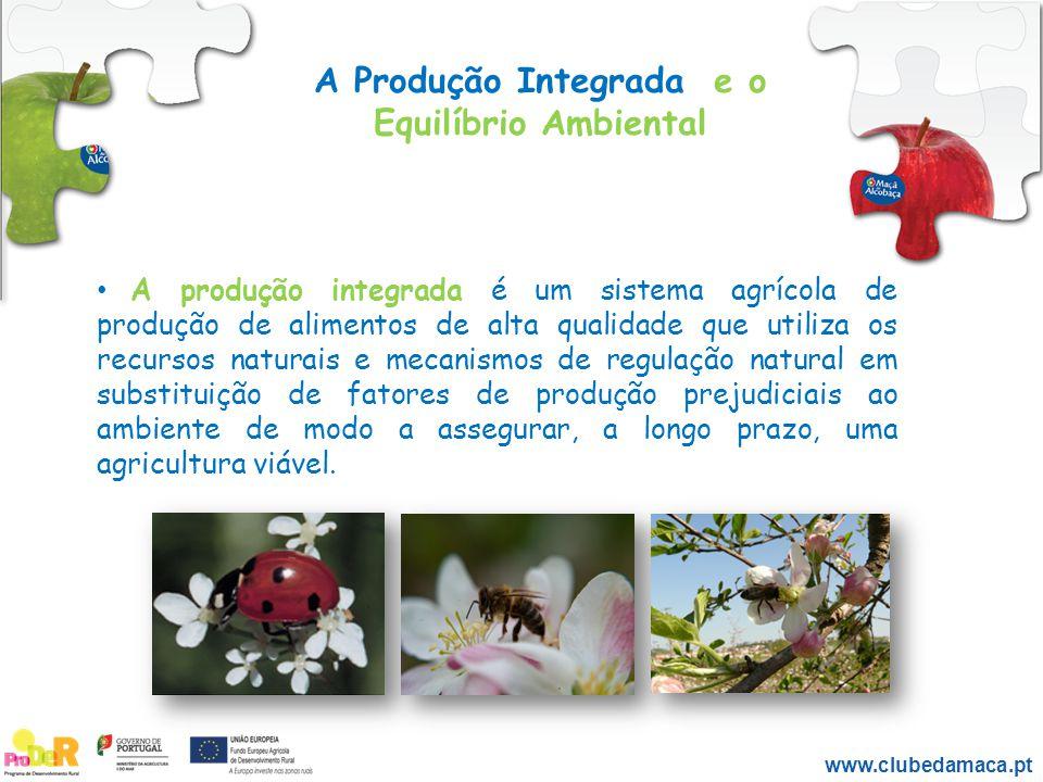 A produção integrada é um sistema agrícola de produção de alimentos de alta qualidade que utiliza os recursos naturais e mecanismos de regulação natur