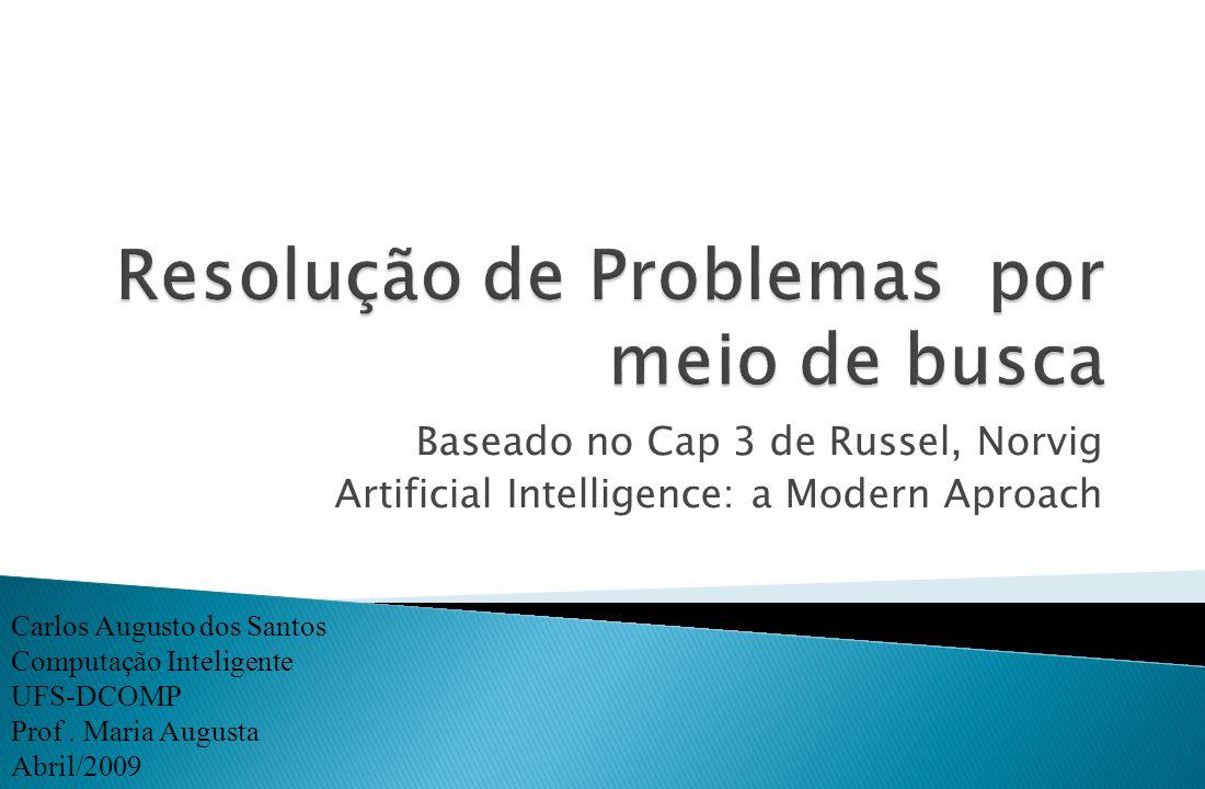 Baseado no Cap 3 de Russel, Norvig Artificial Intelligence: a Modern Aproach Carlos Augusto dos Santos Computação Inteligente UFS-DCOMP Prof. Maria Au