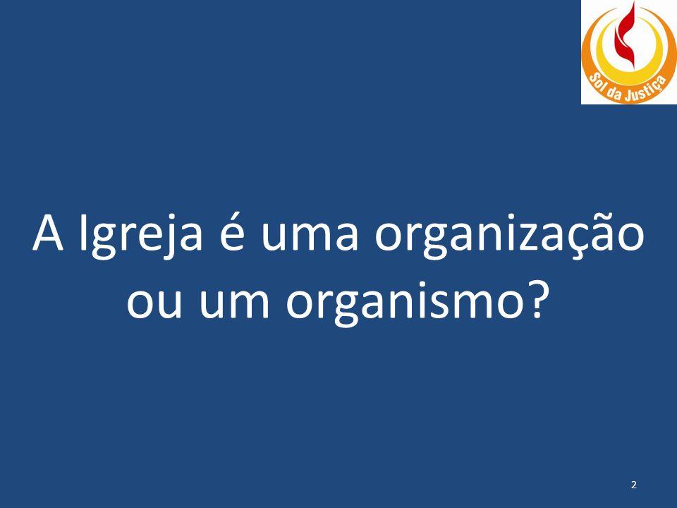 A Igreja é uma organização ou um organismo? 2