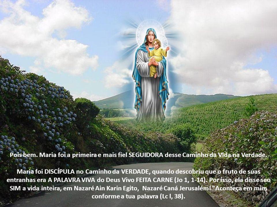 Pois bem.Maria foi a primeira e mais fiel SEGUIDORA desse Caminho da Vida na Verdade.