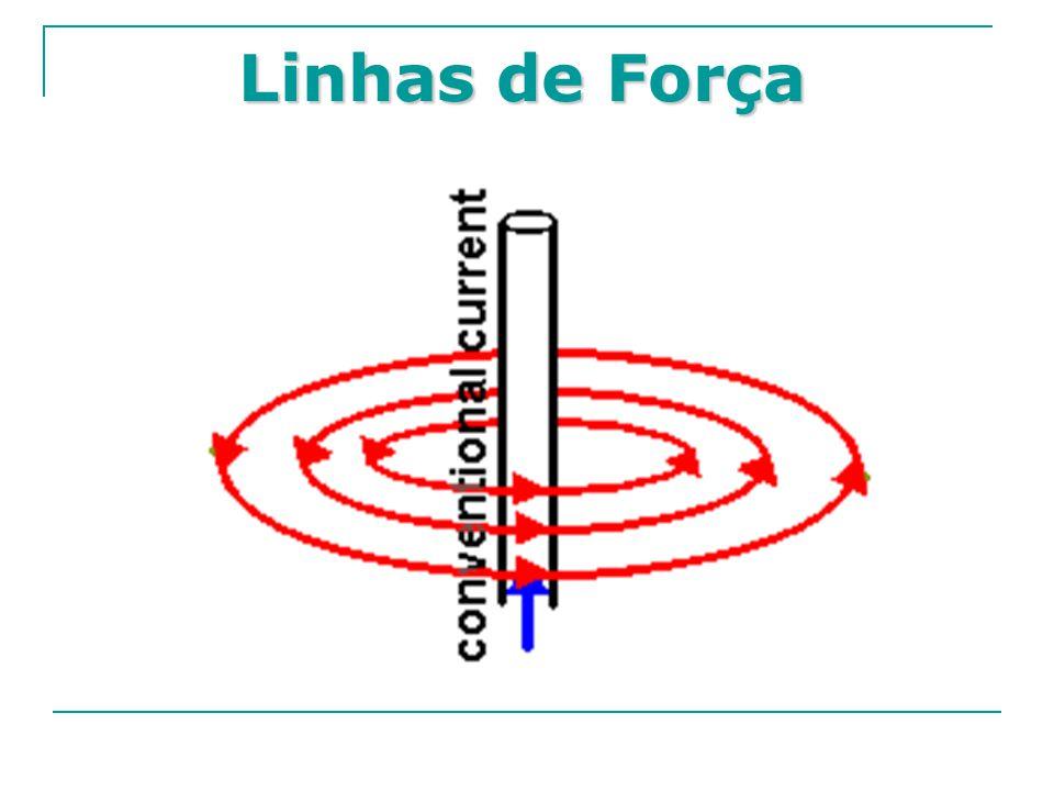 Sentido do Vetor B Envolvendo-se a mão direita no fio condutor, o polegar indicará o sentido da corrente e o restante dos dedos indicarão o sentido do campo magnético