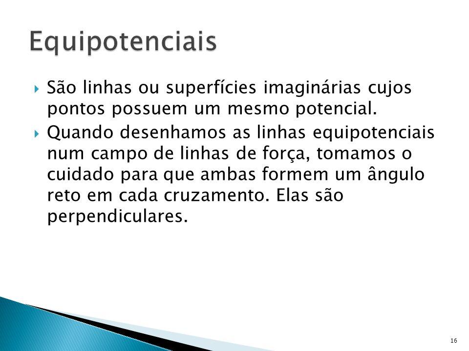  São linhas ou superfícies imaginárias cujos pontos possuem um mesmo potencial.
