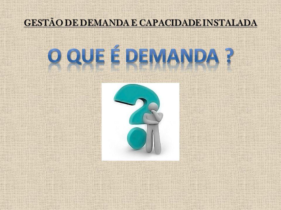 GESTÃO DE DEMANDA E CAPACIDADE INSTALADA Os dados estatísticos a serem utilizados na previsão de demanda são usualmente armazenados em um banco de dados.