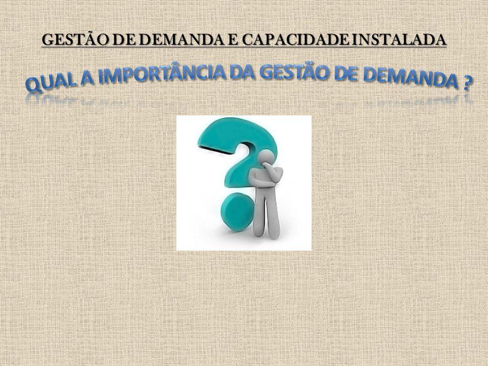 GESTÃO DE DEMANDA E CAPACIDADE INSTALADA Definam dentro dos seus grupos se haverá algum tipo de estratificação dos produtos a serem analisados e qual será o enfoque da análise.