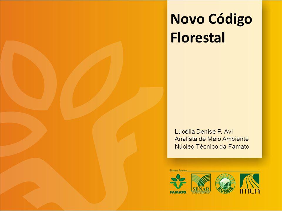 Novo Código Florestal Lucélia Denise P. Avi Analista de Meio Ambiente Núcleo Técnico da Famato