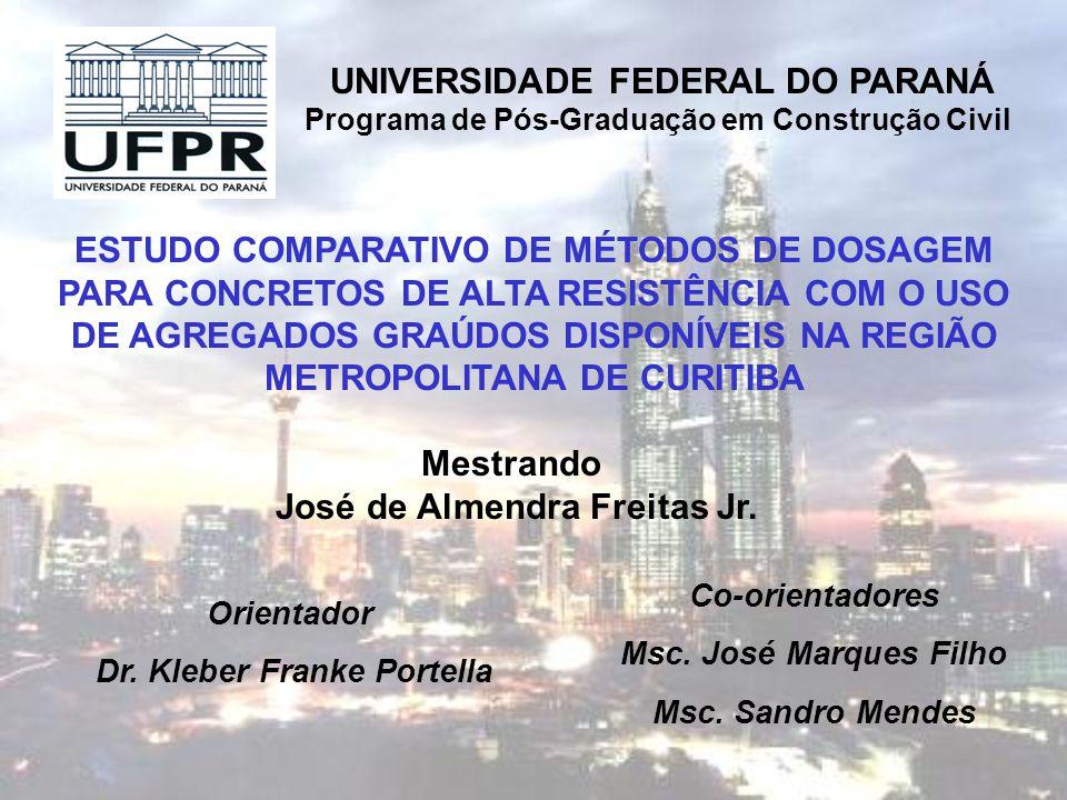 UNIVERSIDADE FEDERAL DO PARANÁ Programa de Pós-Graduação em Construção Civil ESTUDO COMPARATIVO DE MÉTODOS DE DOSAGEM PARA CONCRETOS DE ALTA RESISTÊNC