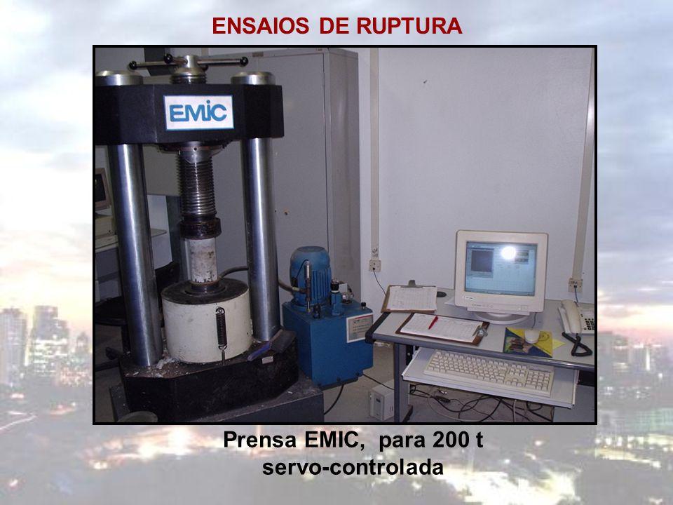 ENSAIOS DE RUPTURA Prensa EMIC, para 200 t servo-controlada