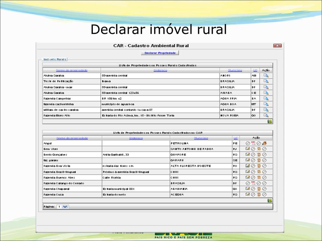 Declarar imóvel rural