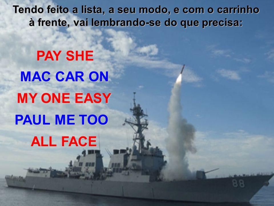 Um norte americano, morando a pouquíssimo tempo no Brasil, e falando bem o português faz a sua lista de compras e vai ao supermercado para tentar abastecer a sua despensa e geladeira.