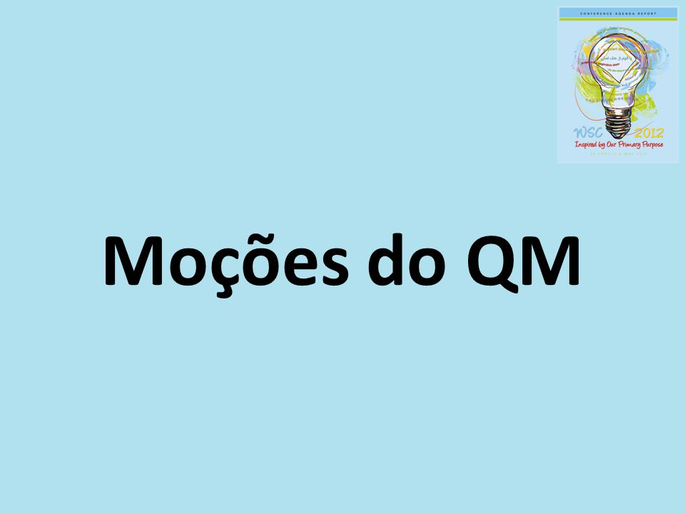 Moções do QM