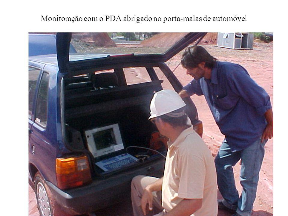 Tela do PDA modelo PAK obtendo sinal de 1 golpe