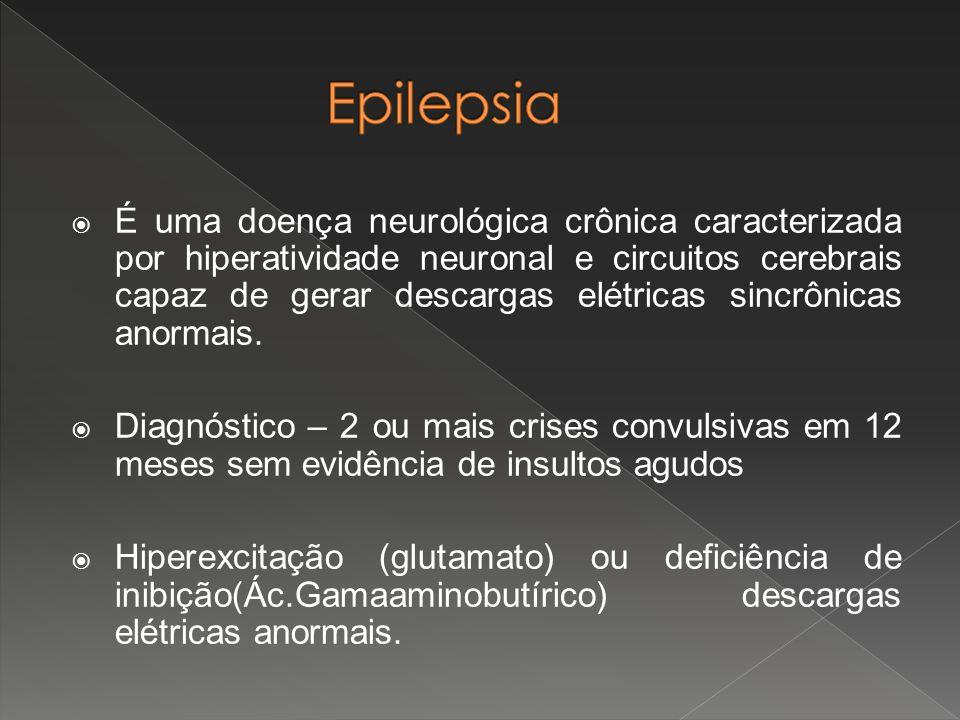  É uma doença neurológica crônica caracterizada por hiperatividade neuronal e circuitos cerebrais capaz de gerar descargas elétricas sincrônicas anor