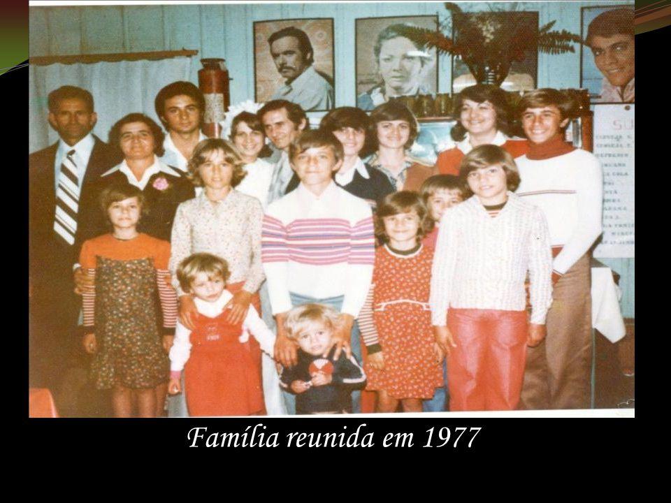 Família reunida em 1977