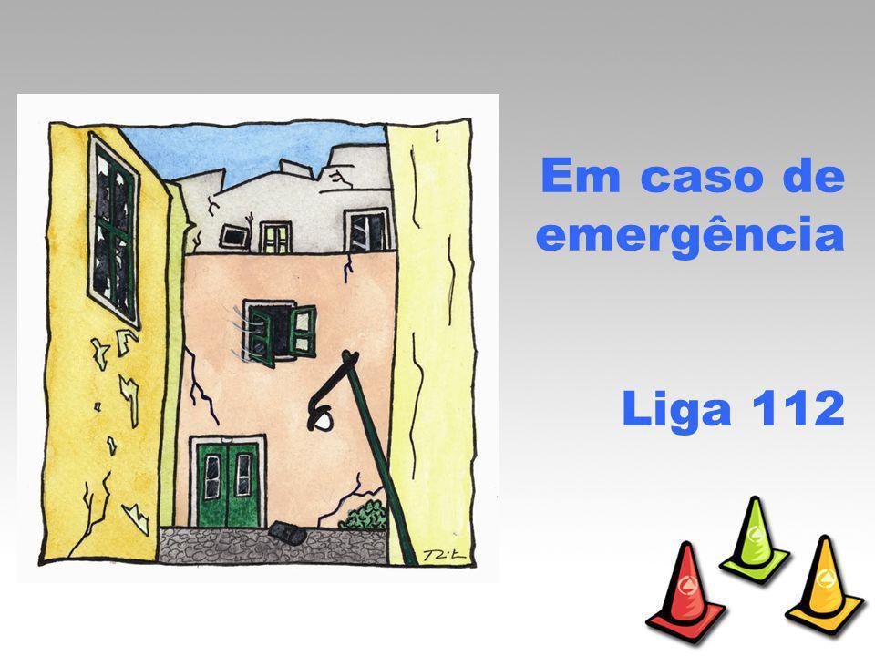 Em caso de sismo… Procura local aberto