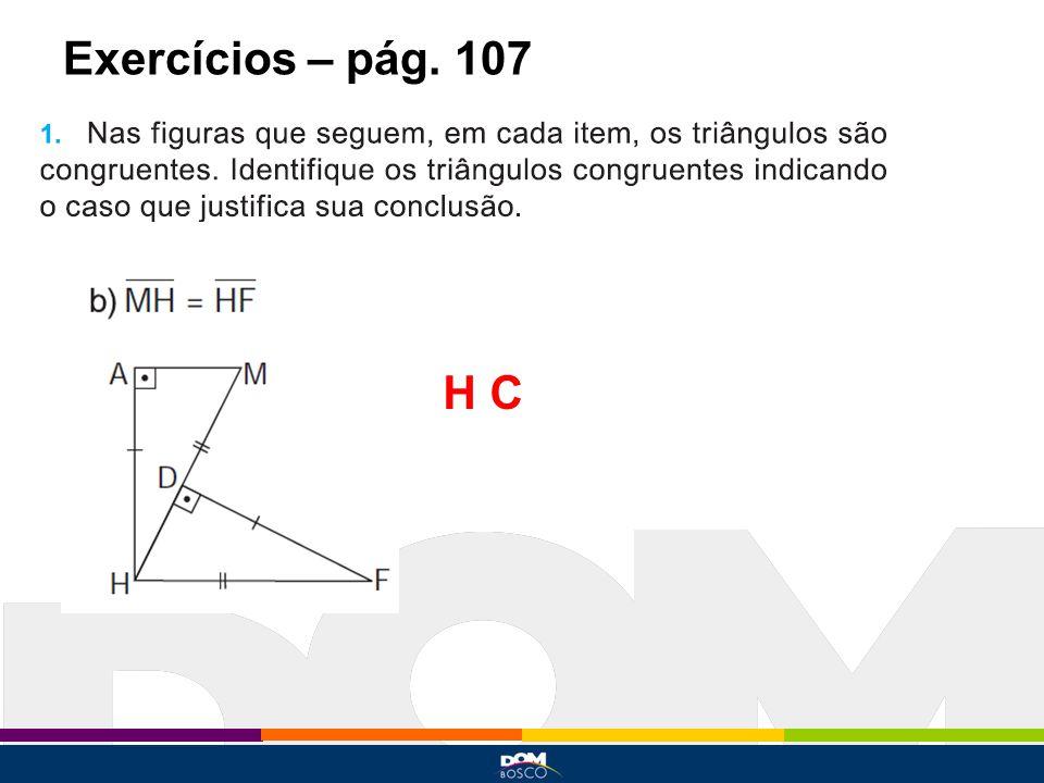 Exercícios – pág. 107 H C