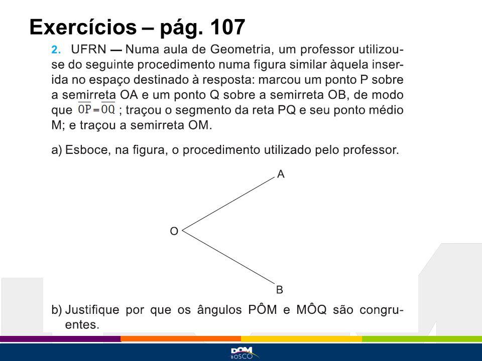 Exercícios – pág. 107