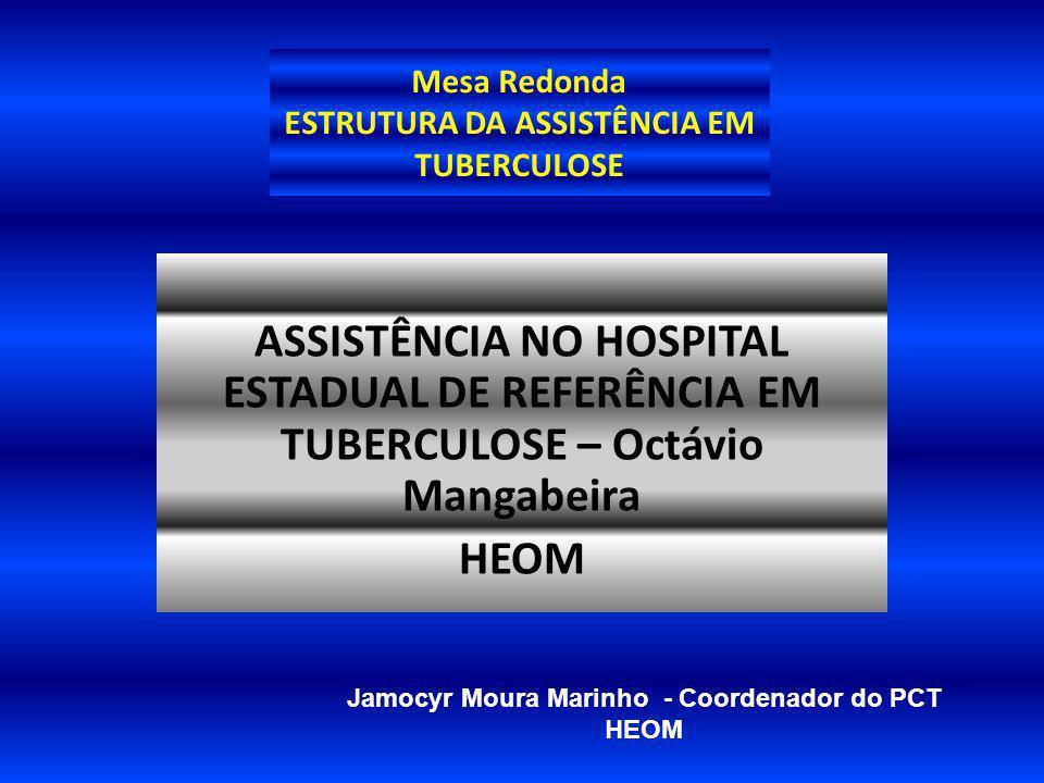 Mesa Redonda ESTRUTURA DA ASSISTÊNCIA EM TUBERCULOSE ASSISTÊNCIA NO HOSPITAL ESTADUAL DE REFERÊNCIA EM TUBERCULOSE – Octávio Mangabeira HEOM Jamocyr M