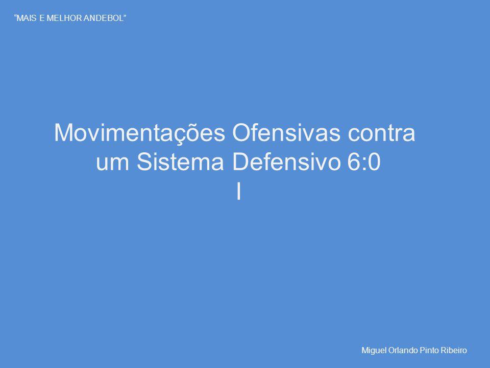 """""""MAIS E MELHOR ANDEBOL"""" Movimentações Ofensivas contra um Sistema Defensivo 6:0 I Miguel Orlando Pinto Ribeiro"""