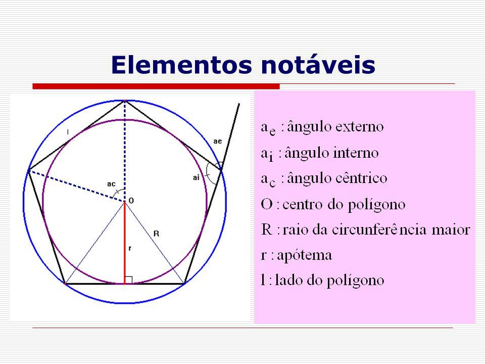 CENTRO DE UM POLÍGONO REGULAR  Centro de um polígono regular é o centro comum das circunferências circunscrita e inscrita.