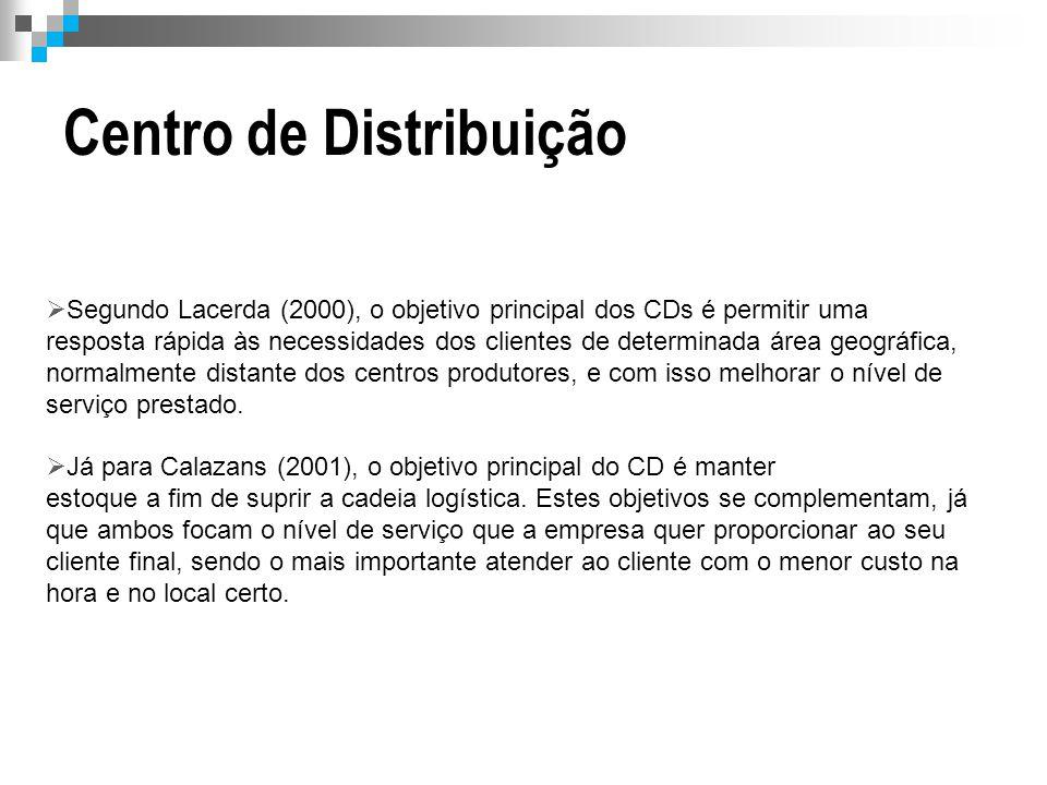  Segundo Lacerda (2000), o objetivo principal dos CDs é permitir uma resposta rápida às necessidades dos clientes de determinada área geográfica, nor