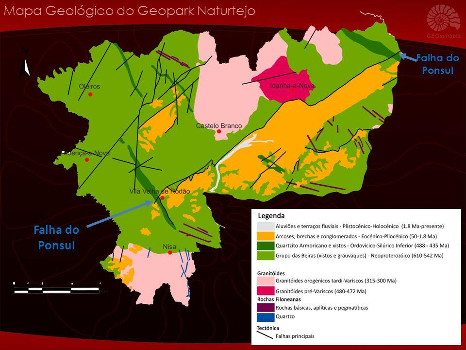 Mapa Geológico do Geopark Naturtejo Falha do Ponsul