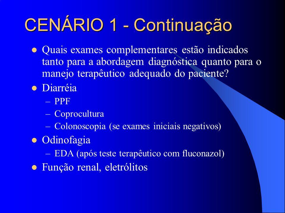 Quais exames complementares estão indicados tanto para a abordagem diagnóstica quanto para o manejo terapêutico adequado do paciente? Diarréia –PPF –C
