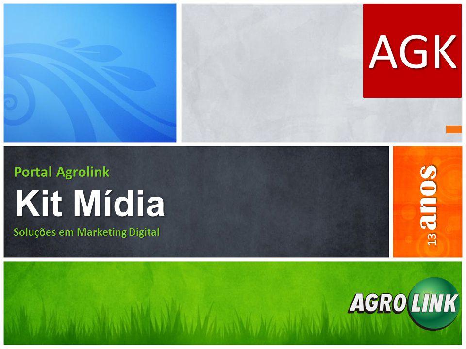 Portal Agrolink Kit Mídia Soluções em Marketing Digital AGK 13 anos