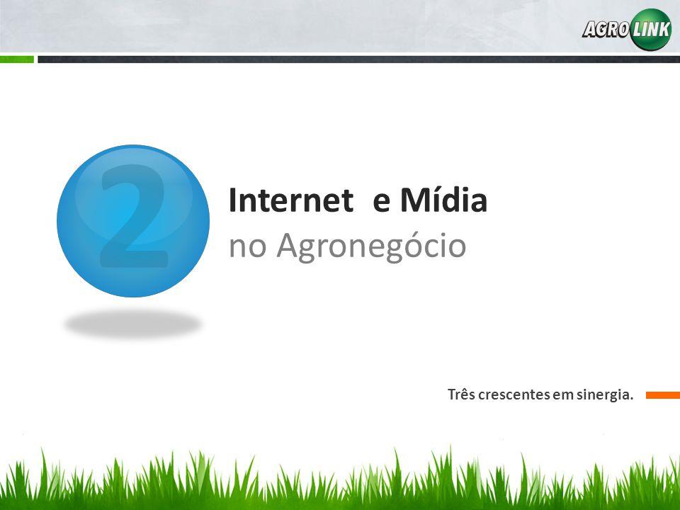 2 Internet e Mídia no Agronegócio Três crescentes em sinergia.