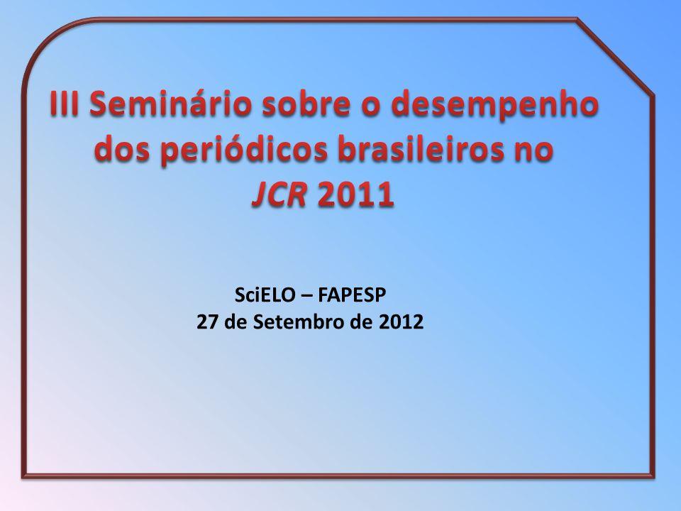 SciELO – FAPESP 27 de Setembro de 2012