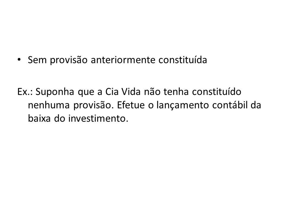 DISTRIBUIÇÃO DE DIVIDENDOS Ex.: A Cia X adquiriu, no início de 2008, 7.500 ações ON da Cia Y.