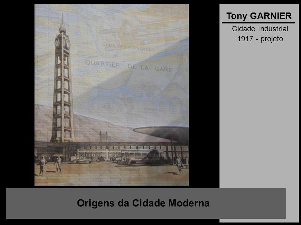 Cidade Industrial 1917 - projeto Origens da Cidade Moderna Tony GARNIER