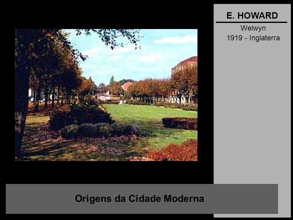 Welwyn 1919 - Inglaterra Origens da Cidade Moderna E. HOWARD