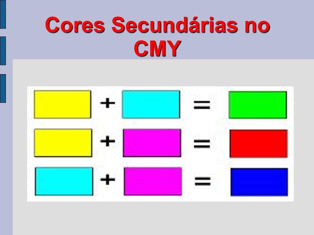 Cores Secundárias no CMY