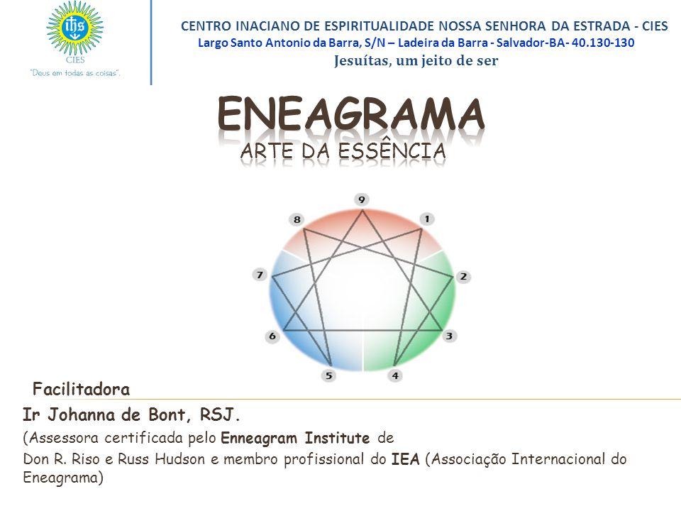 Facilitadora Ir Johanna de Bont, RSJ. (Assessora certificada pelo Enneagram Institute de Don R. Riso e Russ Hudson e membro profissional do IEA (Assoc