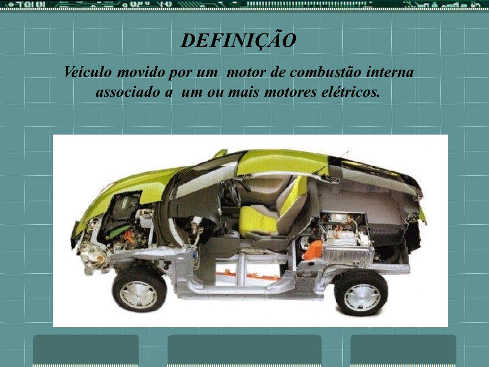 DEFINIÇÃO Veículo movido por um motor de combustão interna associado a um ou mais motores elétricos.