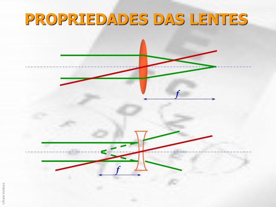 Liliane Ventura PROPRIEDADES DAS LENTES objeto imagem real imagem virtual Magnificação: Lentes Delgadas: