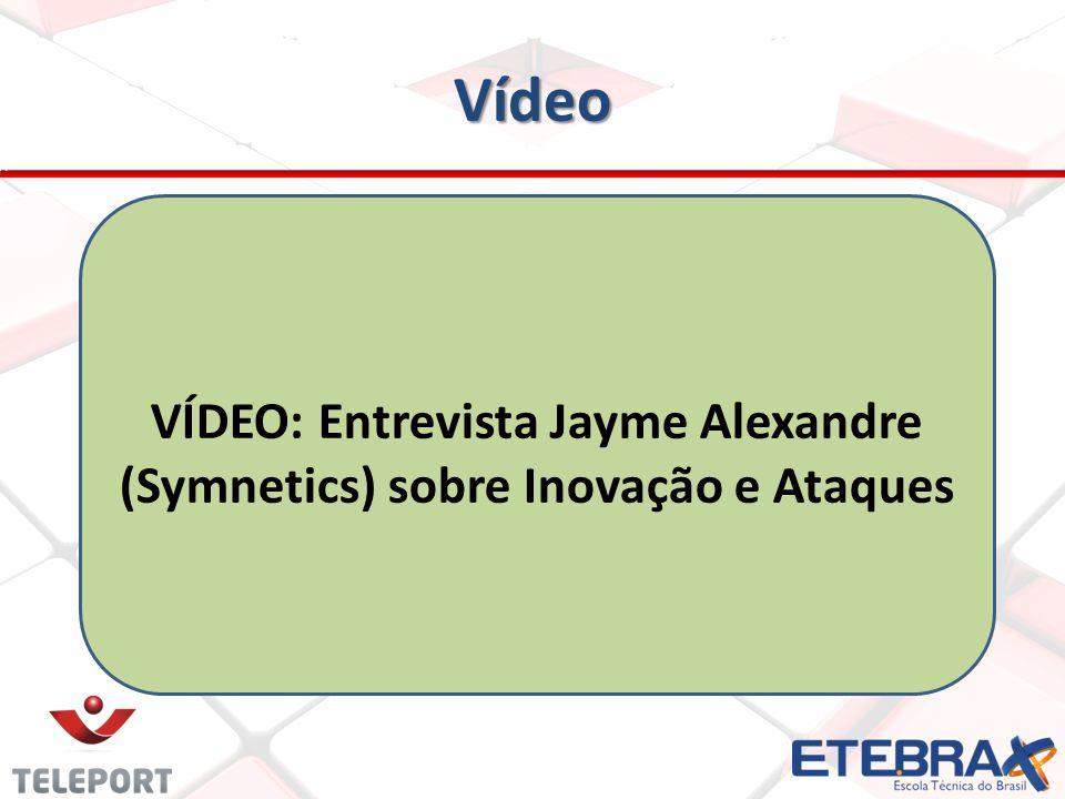 Vídeo VÍDEO: Entrevista Jayme Alexandre (Symnetics) sobre Inovação e Ataques